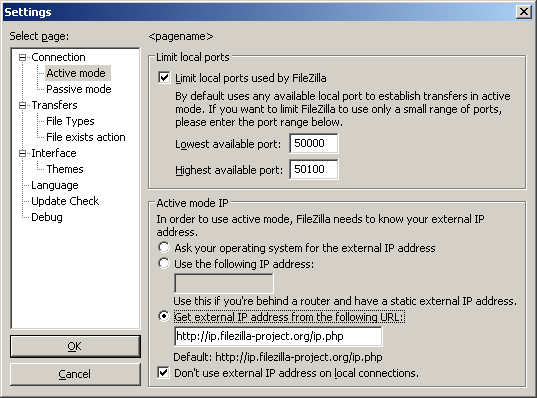 Network Configuration - FileZilla Wiki