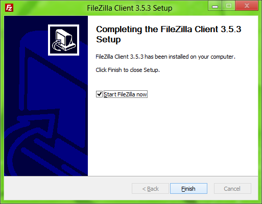 FileZilla Installer: Final_options